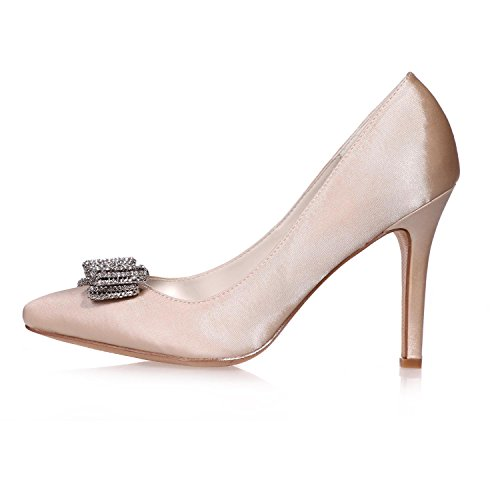 L @ yc Chaussures De Mariage En Soie Femmes 0608-26 / Night Party Toe Heels & Plus De Couleurs Disponibles En Blanc