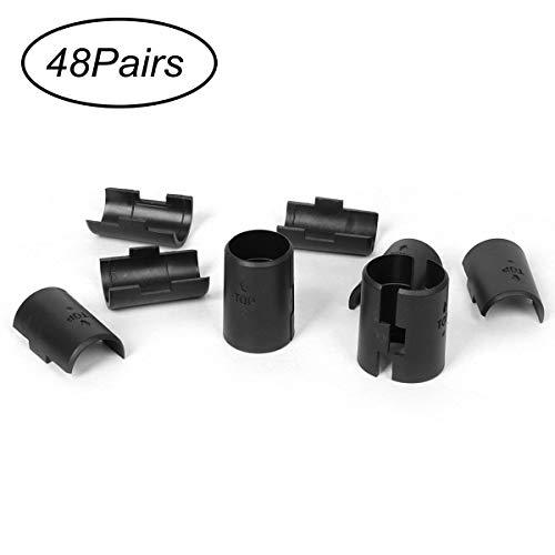 Funhoo 48 Paar Draht Regal Klammern Regalverschluss Clips aus Kunststoff für 1