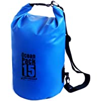 Karana Ocean Dry Pack Day Waterproof Travel Kayak Bag 15 Litre 15L Blue
