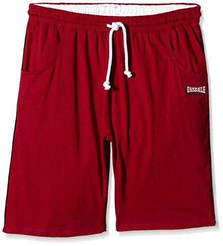 Lonsdale Hose Charlbury-Pantaloni sportivi Uomo, Rosso (Dark Red), Large (Tallia Produttore: L)