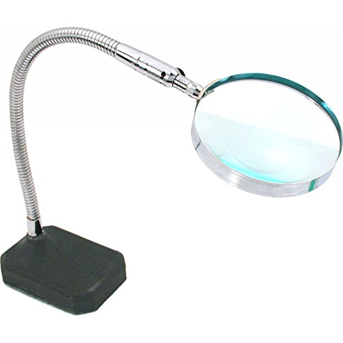 2x Flexible Desktop Magnifier Jewelers Hands Free Tool
