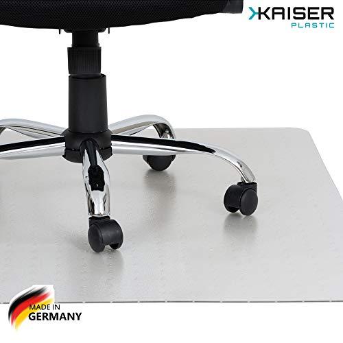 KAISER PLASTIC® Bodenschutzmatte | Made-In-Germany | für Teppichboden | 90 x 120 cm | aus PET