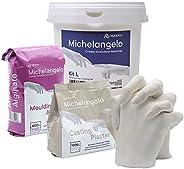 Michelangelo KIT L per calco 3D di 2 mani in gesso per adulti e bambini. Idea regalo per coppie, famiglia o am