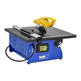 MSW Máquina de cortar azulejos eléctrica T-SAW180G (600 W, refrigeración por agua, profundidad de corte máxima a 90°: 34 mm)
