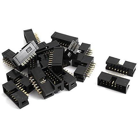20 piezas 2 22 fila 14 pin 2,54 mm DC3-14P JTAG conector para Cable plano