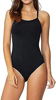 Dubocu LCC Women's Training Adjustable Strap One Piece Swimsuit Swimwear Bat