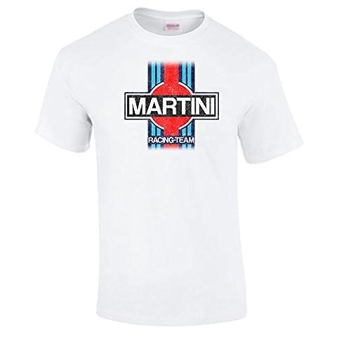 Martini Retro Racing Porsche Vintage Print Washed Out Classic Team T Shirt S-5XL - Medium