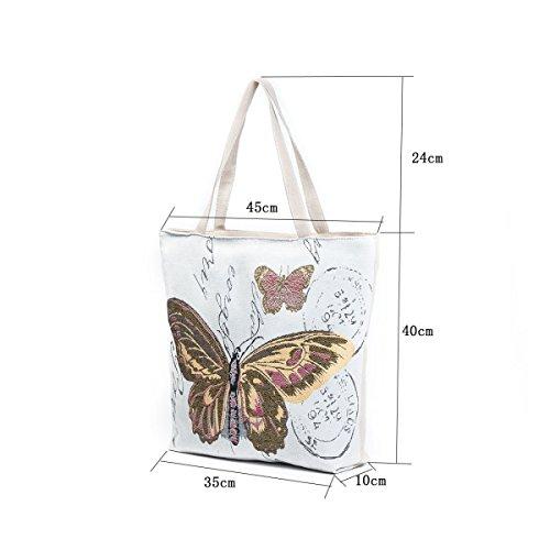 FZHLY Creativo Tela Farfalla Stampa Lady Shoulder Bag,612b 612b