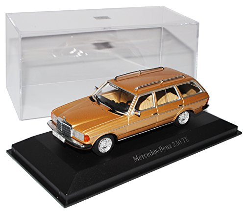 Minichamps Mercedes-Benz W123 230TE E-Klasse Kombi T-Modell Beige 1975-1986 1/43 Modell Auto