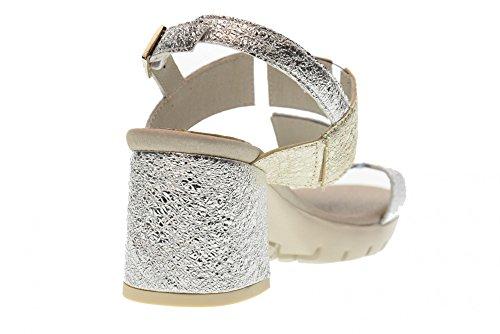 CallagHan Frau Ferse Sandale Schuhe 21800 Silber