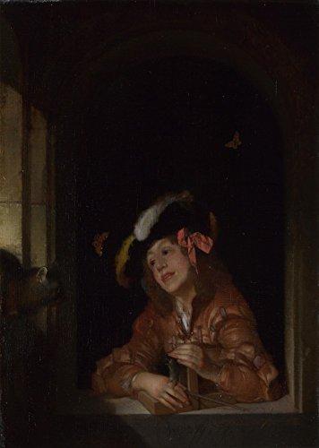 Das Museum Outlet-Adriaen van der Werff-Ein Junge mit einem Mausefalle-Leinwanddruck Online kaufen (152,4x 203,2cm)