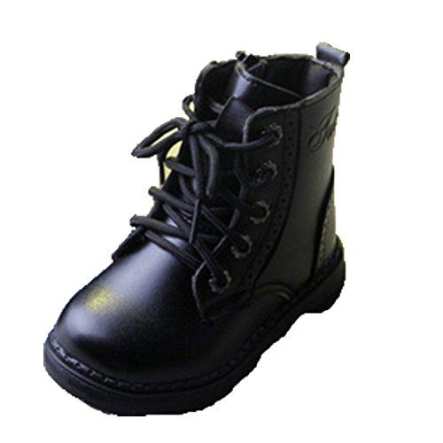 Ohmais Enfants Garçon Fille bottes et bottines botte classiques fille petit talons Chaussure noir normal