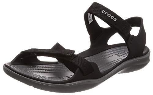 Croc's Crocs W Swiftwater Webbing Sandal 204804, Infradito Donna, Nero (Noire 001), 39/40 EU