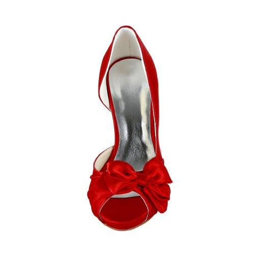 Jia Jia Wedding 37055 Scarpe Sposa Scarpe col tacco donna Rosso