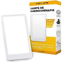 Lámpara de luz diurna natural 10000 lux - Lampara Luminoterapia Eficiencia Terapéutica para combatir la Depresión y Trastorno Afectivo Estacional