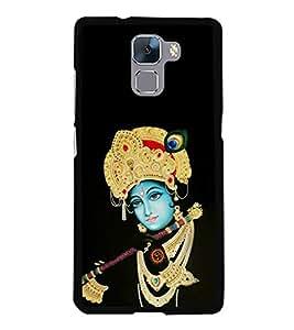 FUSON Krishna Playing Basuri Designer Back Case Cover for Huawei Honor 7 :: Huawei Honor 7 (Enhanced Edition) :: Huawei Honor 7 Dual SIM