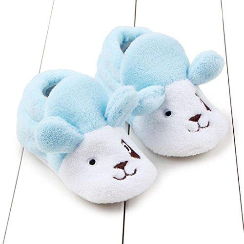 Baby Mädchen / Jungen Lauflernschuhe-Omiky® 0-8 Month Mädchen / Jungen Baumwolle Winter Baby Girl boys Kinder Schuhe Warme Schuhe Blau