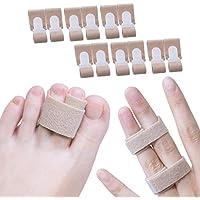 Preisvergleich für Sumifun Finger Splint Wraps 12er Packung Zehenspreizer Hallux, Toe Splint Wrap zum Einklemmen eines blockierten...