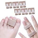 L'attelle de doigt de Sumifun enveloppe 12 paquets protecteurs de doigt bandes de doigt de bande de copain pour traiter / attacher un doigt bloqué, bandage pied, bandage orteil