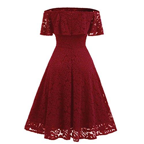 Kleider Abendkleid Off Schulter Cocktailkleid Bodyconkleid Spitzen Langes Brautjungfernkleid Basic...