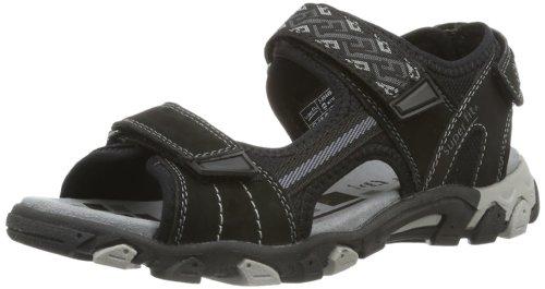 Superfit Kinder Schuhe Sandalen Jungen Weite Mittel IV Hike 2-00449, Sandales de marche garçon Noir - Noir