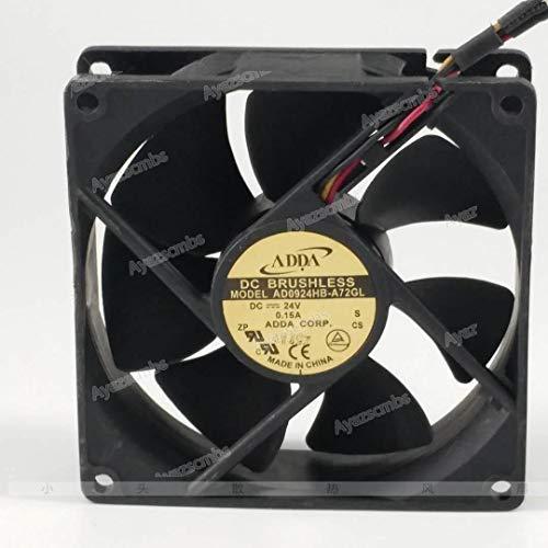 Ayazscmbs Kühlung Lüfter Kompatible für ADDA AD0924HB-A72GL 24V 0.15A 9CM 9025 3-Wire Inverter Chassis Kühlung Lüfter Inverter-chassis