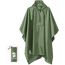 Summer Mae Impermeable Poncho Multifuncional Tres En Uno Verde