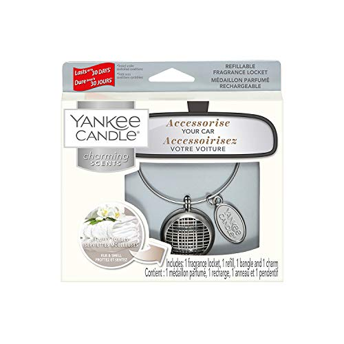 Linear-glas-anhänger (Yankee Candle Fluffy Towels Linear Charming Scents Starter-Set)