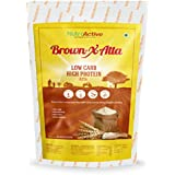 NutroActive BrownXatta, HIGH Protein & Low Carb Keto Friendly Flour 850 gm