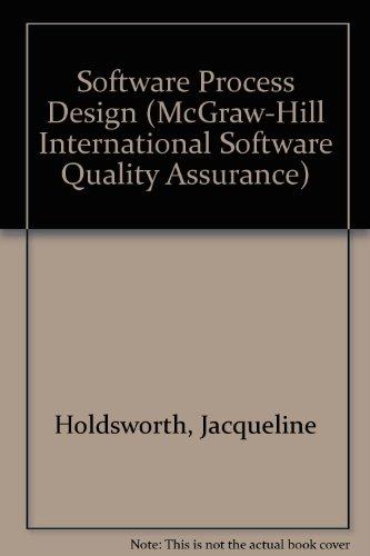 Software Process Design (McGraw-Hill International Software Quality Assurance)