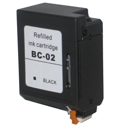1 Druckerpatrone Tinte für Canon BJC 150 BJC 210 BJC 240 BJC 250 BJC 1000 BJ 10 ersetzt BC-02 - Bc-02 Patrone Schwarz