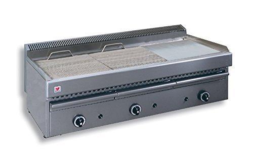 North Pro Gas T35Gas Grill/Grillpfanne 24,9KW mit Wasser Schublade-LxBxH: 1130x 630x 430(Made in Griechenland) -
