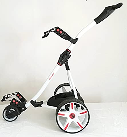 'offmetrolley'® Z1 36 hole Electric Golf Trolley - White