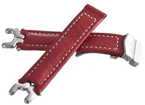 Tag Heuer Sel Red cinturino in pelle color argento collegamento fibbia...