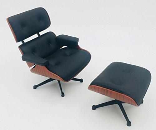 Zen Miniatur Designer Stuhl Lounge Chair & Ottoman Dekoration Maßstab 1/12 (Chair Ottoman Lounge Und)