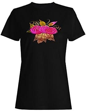 Boho estilo hermosas flores nuevo camiseta de las mujeres g273f
