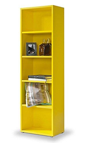 Gelbe Regal - werkzeuglose Montage mit Klicksystem