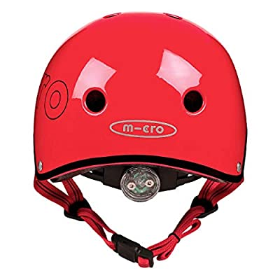 Micro Safety Helmet For Boys And Girls Cycling Scooter Bikes Size 53-58Cm- Red by Micro