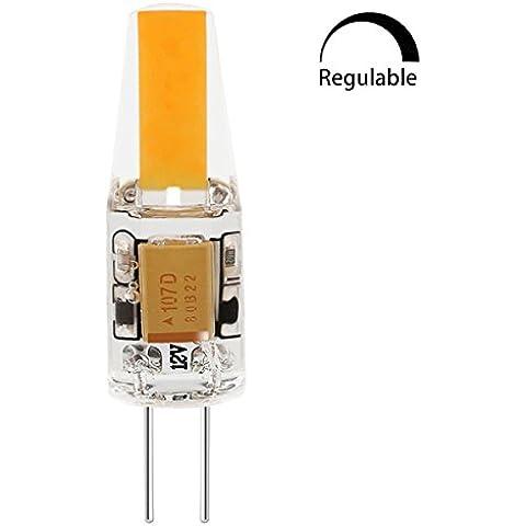 SGI G4 LED Bombilla COB Regulable 6W G4 Lámpara Bombilla (Luz Cálida), AC/DC 12V, 220lm 3500K/ La Luz de 360°/Hecho de