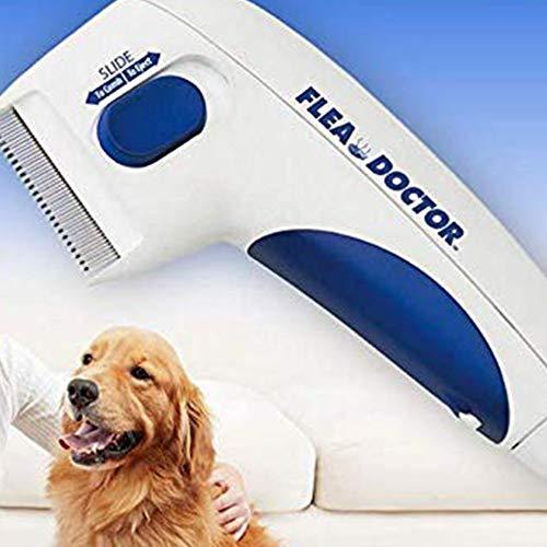 Leoie Elektrischer Floh-Reinigungskamm, Läuse-Entferner für Haustiere, Hundezubehör