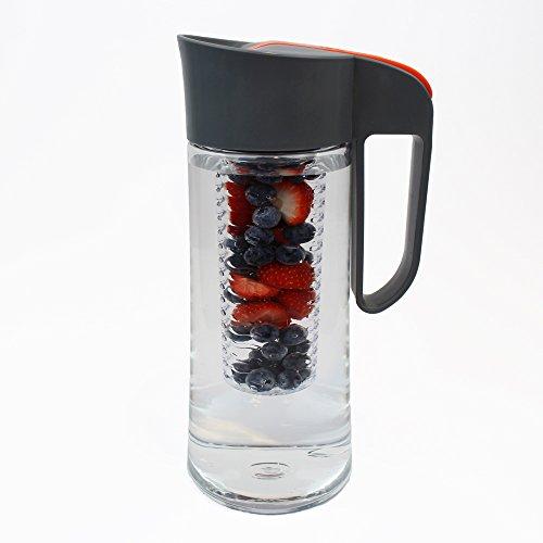 Cucina Sana Tritan 2 Liter Karaffe mit Einsatz - 100% BPA-frei für Wasser, Limonade, Apfelschorle, Früchte, Tee, Säfte und Eiswürfel. (Liter 2 Limonade)