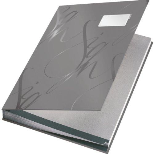 Leitz 57450085 Unterschriftsmappe Design, 18 Fächer, grau