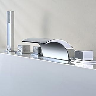 41Dfh7Hv03L. SS324  - Kinse Columna Ducha Conjuntos de Ducha Cascada Grifería Grifo Ducha de Mano para Baño Cuarto de Baño