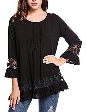 K-youth® Camiseta Para Mujer, Mujer Manga 3/4 Camisa Casual Blusa Suelto Tops Barata Atractivas Blusas Mujer Larga...