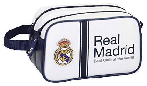 Real Madrid – Neceser 2 cremalleras, 1ª equipacion temporada 2016/2017 (Safta 811654518)