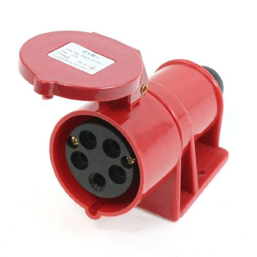 sourcingmap® IP44 5 pin 3 P + e + N IEC309-2 AC 380V - 415V 16 A presa Induatrial colore rosso