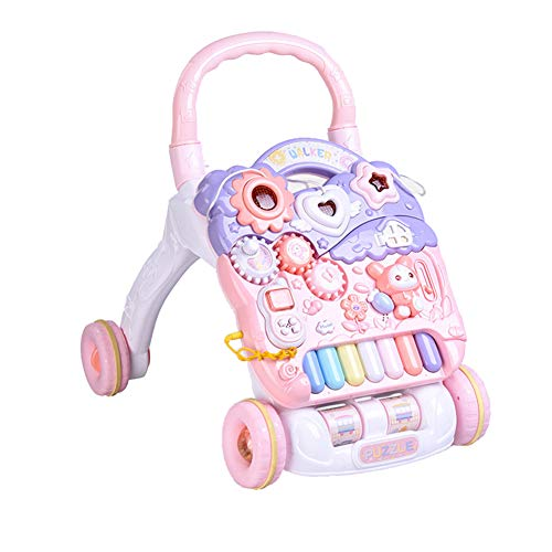 LGLE Correpasillos Bebé Juguete evolutivo Andador MúSica Baby Walker First Step Car Trolley para NiñOs...