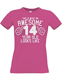 Edward Sinclair Womens This Is What an Awesome 14 Year Old Looks Like Women's Fitted T-Shirt