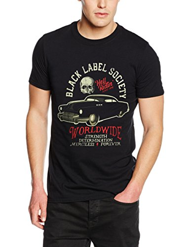 plastic-head-black-label-society-hell-riding-hot-rod-t-shirt-uomo-nero-large