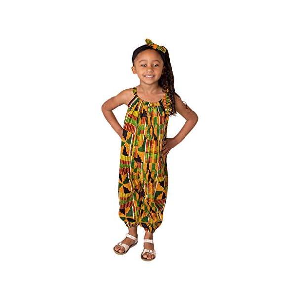 YWLINK Mono Estampado Digital Dashiki Africano NiñA Estilo Nacional Mono Holgado Sin Tirantes con Hombros Al Aire Y… 1